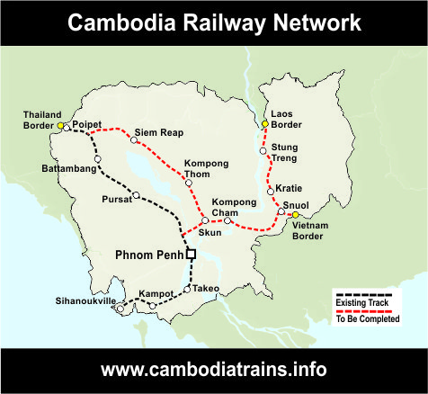 Map of Cambodia Railways