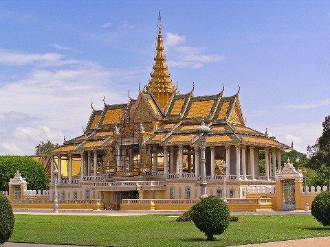 Silver Pagoda in Phnom Penh's Royal Palace