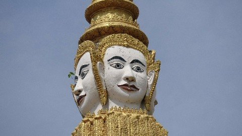 Four face Buddha at Phnom Penh Royal Palace