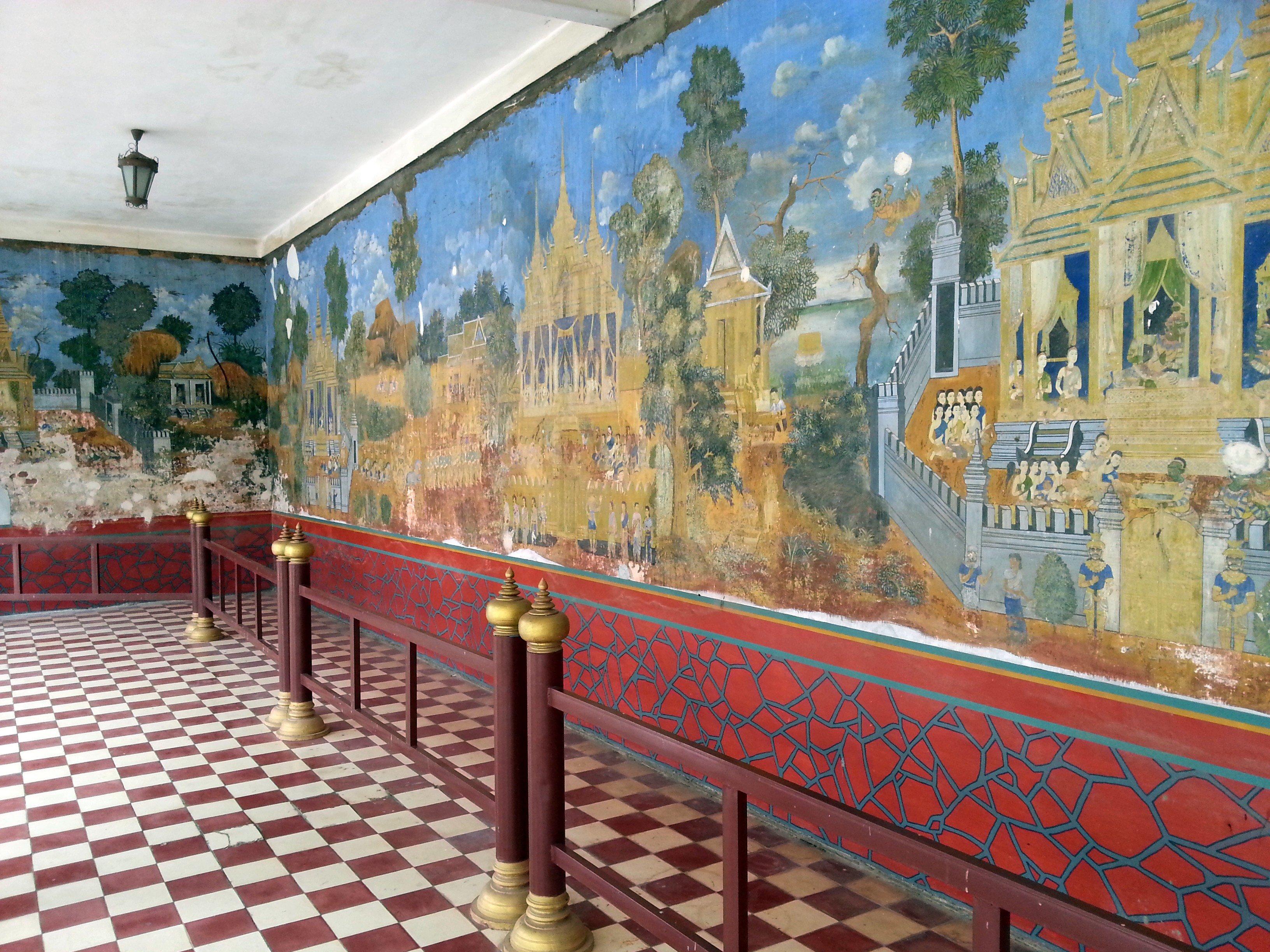 Mural at the Royal Palace in Phnom Penh