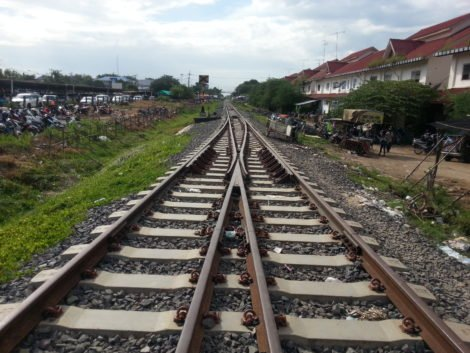 Railway line to the Cambodia-Thailand border