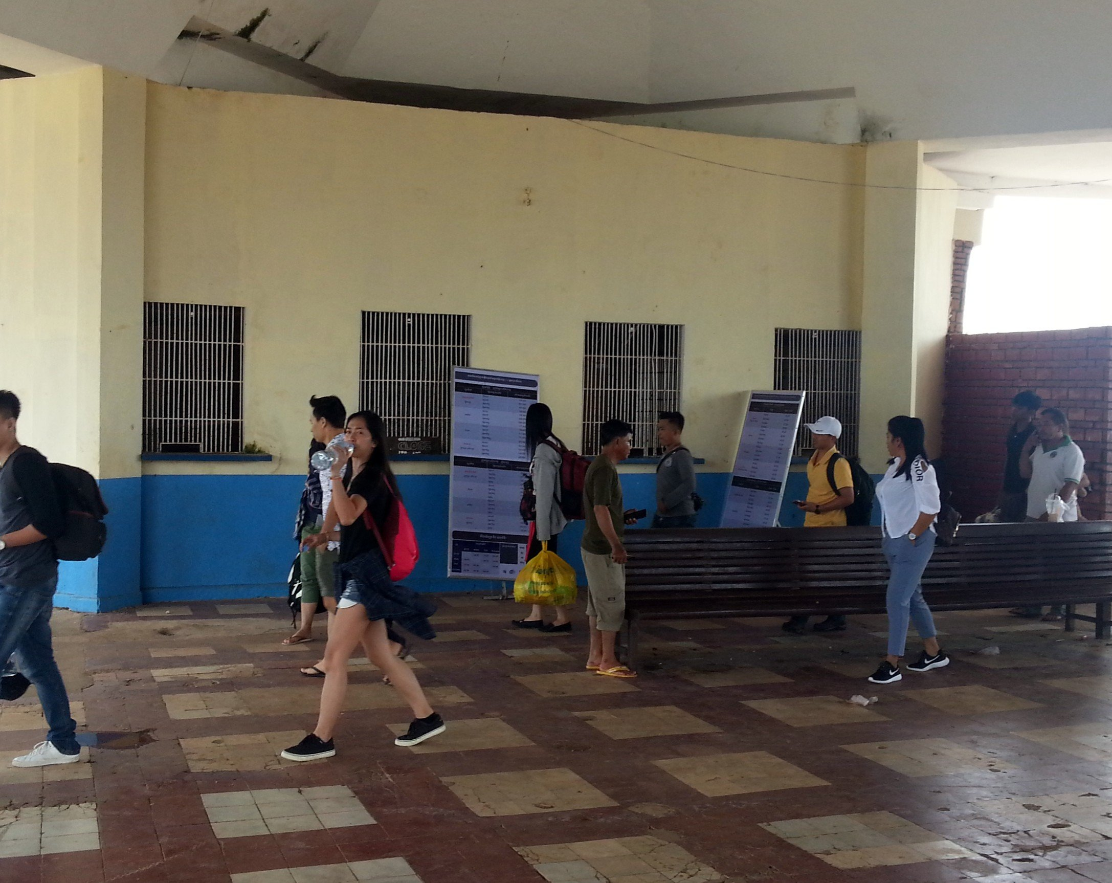 Ticket counters at Kampot Railway Station