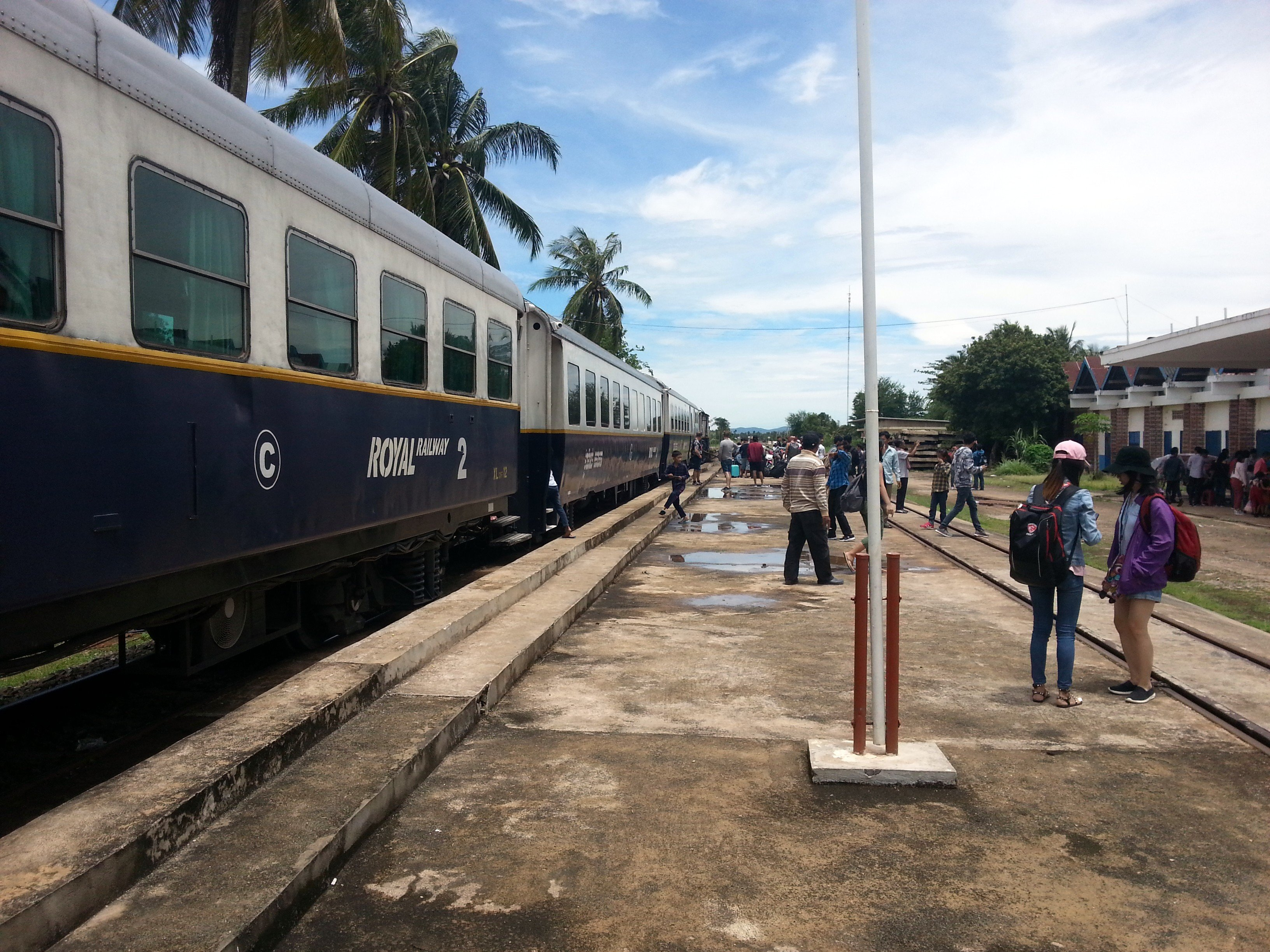 Train at Kampot Railway Station