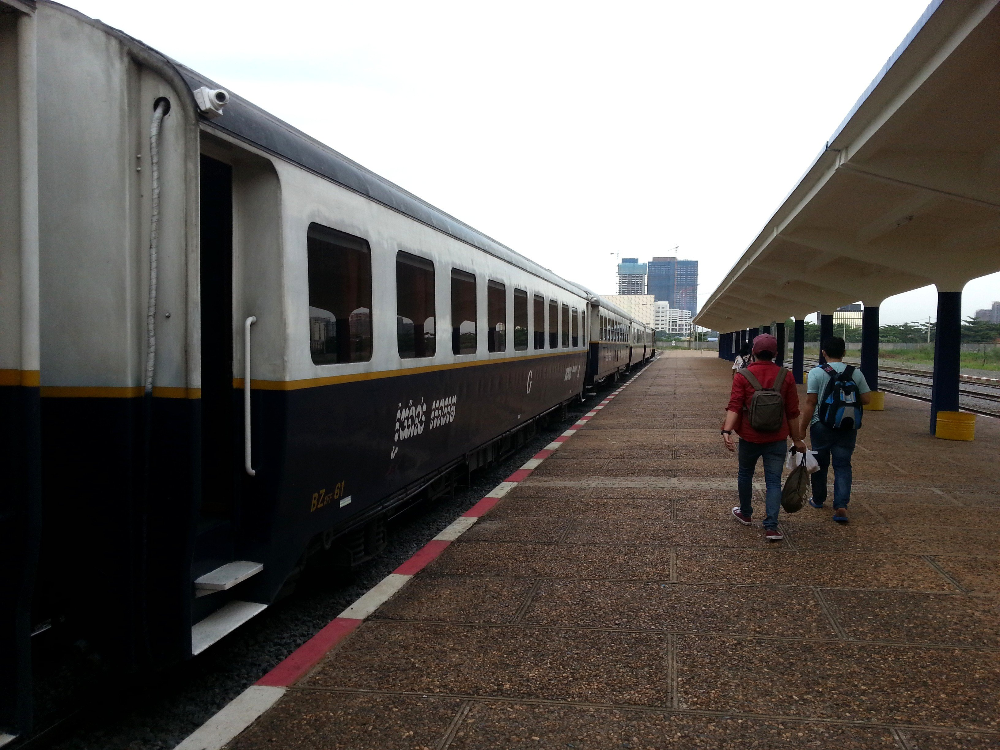 Train to Sihanoukville at Phnom Penh Railway Station