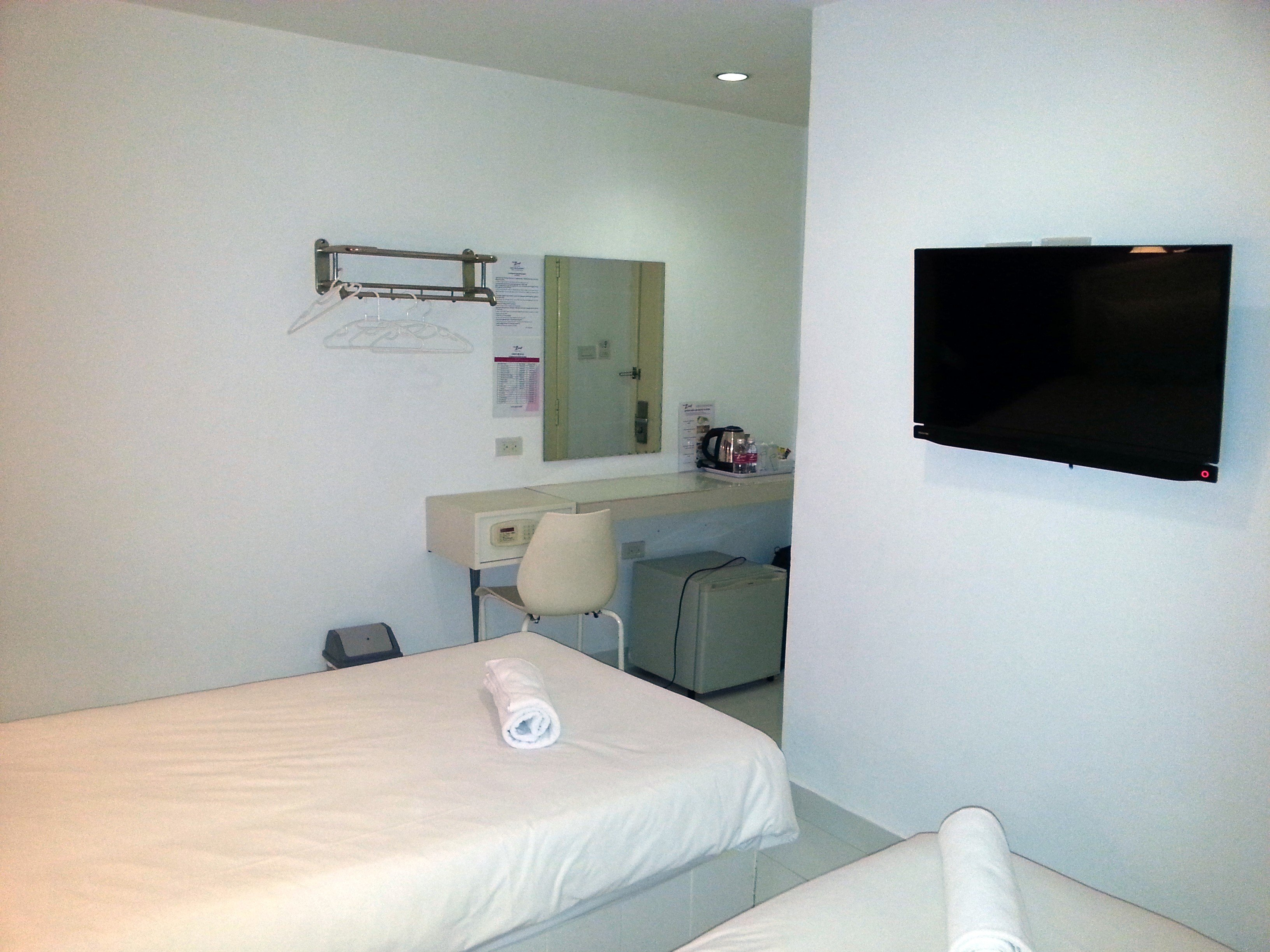 Room facilities at the Zing Hotel