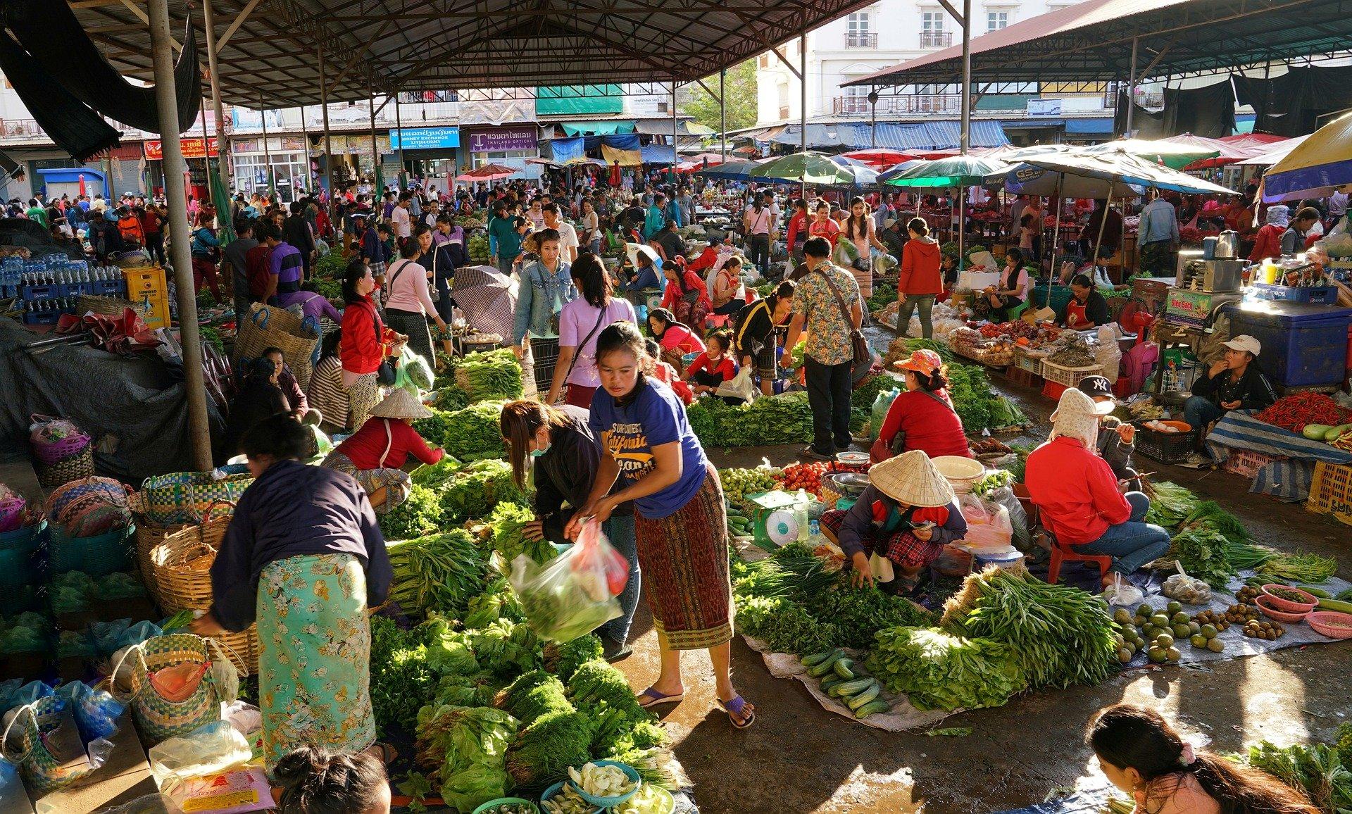 Dao Heuang Market in Pakse